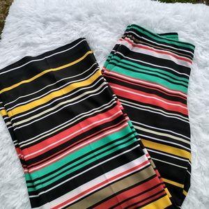 Palazzo pants wide leg striped pockets comfy